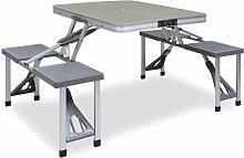 Youthup - Table pliable de camping avec 4 sièges