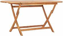 Youthup - Table pliable de jardin 160x80x75 cm