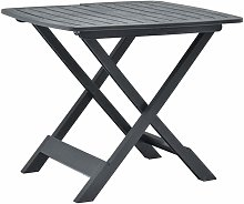 Youthup - Table pliable de jardin Anthracite