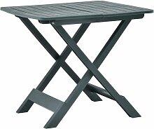 Youthup - Table pliable de jardin Vert 79x72x70 cm