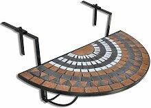 Youthup - Table suspendue de balcon Terre cuite et