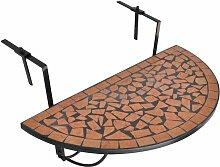 Youthup - Table suspendue de balcon Terre cuite