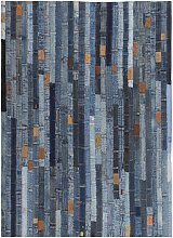 Youthup - Tapis jeans Patchwork 120 x 170 cm Denim