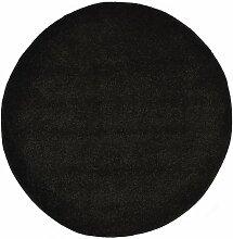 Youthup - Tapis Shaggy 160 cm Noir