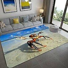 YQZS Tapis de Salon Design Tapis Court Pile Crabe