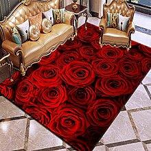 YQZS Tapis de Salon Design Tapis Court Pile Fleur