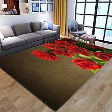 YQZS Tapis de Salon Design Tapis Court Pile Rose