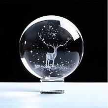 ytlsd Boule De Cristal De Noël 3D Boule Gravée