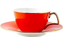 YTO Ensemble de Tasse et Soucoupe à café, Tasse