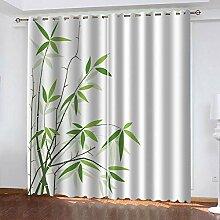 YTSDBB Rideau Opaque Bambou Vert L 280 x H 260 cm