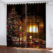YTSDBB Rideaux Occultant Chambre Noël L 150 x H