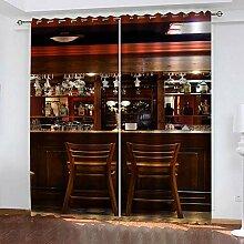 YTSDBB Rideaux Occultant Salon Bar Tendance L 110