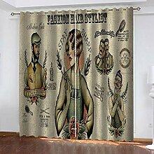 YTSDBB Rideaux Occultant Salon Coiffeur de Mode L