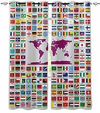 YUANCHENG Décor à la Maison Carte du Monde