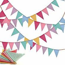 YuChiSX Guirlande de Fanions en Tissu,Multicolores