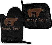 YudoHong Honey Bear Lot de maniques et maniques de