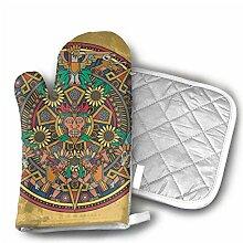 YudoHong Maya - Calendrier aztèque - Gants de