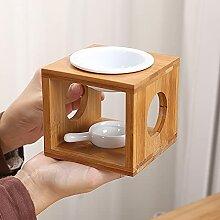 yui Petite lampe à parfum avec cadre en bambou,