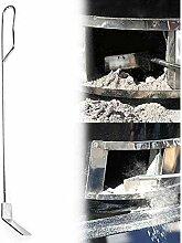 YuKeShop Râteau à cendres en acier inoxydable