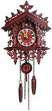 Yunt-11 Coucou Horloge Murale à Quartz, Forêt