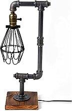 Yunyisujiao Lampes de bureau en bois industrielles