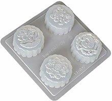 Yushu - Moule à gâteau fondant, 4 cavités,