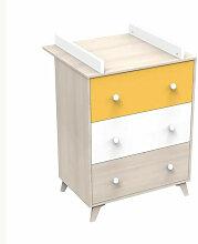 YUZU Commode a langer 3 tiroirs - Baby Price