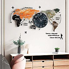 YVX Carte du Monde en Acrylique 3D avec Ensemble