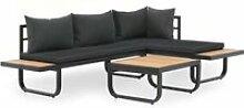 YWT ® Canapé d'angle de jardin à 2 places
