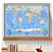 YXFAN Géographique la carte du monde affiches et