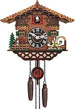 yxx Pendules à Coucou Horloge à Coucou en Bois,