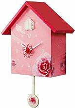 YYIFAN Grande horloge à coucou pour oiseaux -