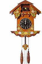 YYIFAN Horloge à Coucou Allemand pin sculpté à