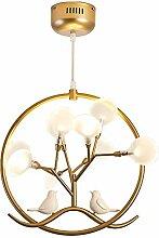 YYM LED Lampe Suspension Moderne Oiseau Plafond