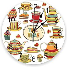 Yzybw Silencieuse sans Tic-tac Horloge Murale