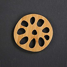 Z-LIANG Bamboo Lotus Forme Coasters Mat Coupe