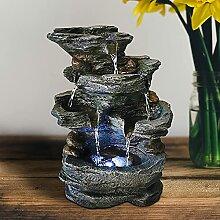 ZAAQ Fontaines décoratives en résine fontaines