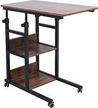 Zatnec Table pour Ordinateur Portable À roulettes