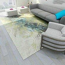 ZAZN Tapis d'impression Géométrique 3D Salon