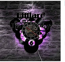 ZBBSHOP Horloge Murale Billard Balle Piscine