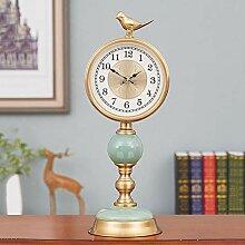 ZCME-power Pendule de cheminée,Horloge a Poser