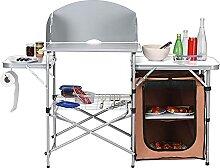 ZDYLM-Y Table de Barbecue Pliante, Table de
