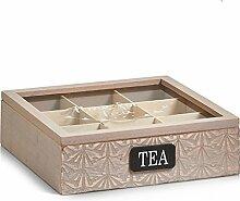 Zeller 15115 Boîte à thé, Bois de Polonia,
