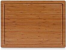 Zeller 25220 Planche à découper, Bambou, Brun,