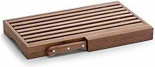 Zeller 25225 Planche à pain avec couteau Bambou