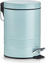 Zeller Poubelle à pédale 3 litres métal,