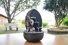Zen'Light Fontaine Bouddha Grace, Résine,