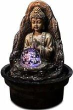 ZEN Fontaine d'intérieur bouddha avec boule