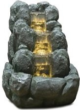 ZEN Fontaine LED d'intérieur nature Rocky -