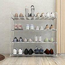 ZEQUAN Étagère à Chaussures en Acier Inoxydable